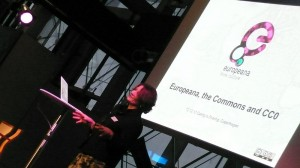 Jill Cousins talking about the European Commons at Sharing is Caring 2012